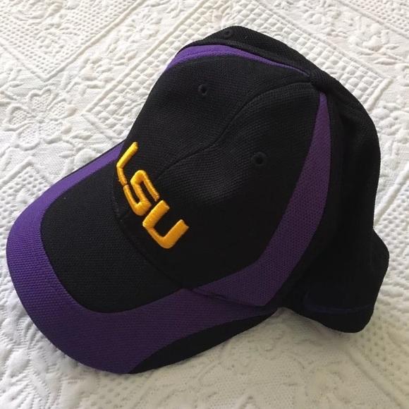 ae78ae909 Nike LSU Tigers adjustable stretch Fit Hat